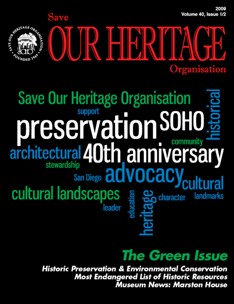 Save Our Heritage Organisation Magazine cover